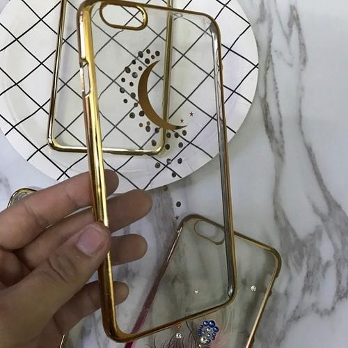 Ốp lưng Iphone 6 6Plus cứng viền vàng