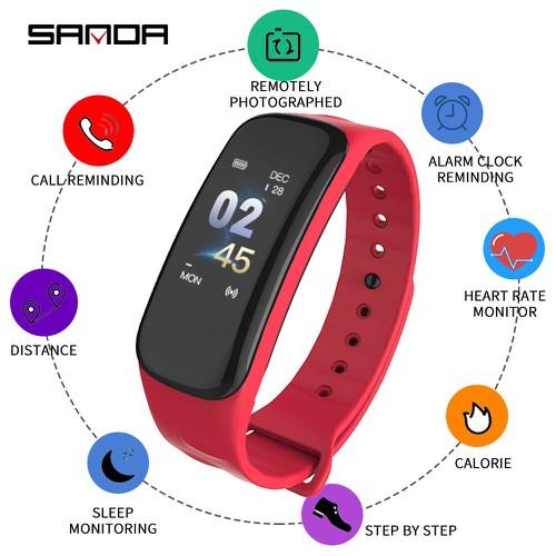 Vòng tay thông minh SANDA C1 theo dõi sức khỏe thể thao giấc ngủ nhịp tim smart band wearfit - 6272934 , 16388238 , 15_16388238 , 450000 , Vong-tay-thong-minh-SANDA-C1-theo-doi-suc-khoe-the-thao-giac-ngu-nhip-tim-smart-band-wearfit-15_16388238 , sendo.vn , Vòng tay thông minh SANDA C1 theo dõi sức khỏe thể thao giấc ngủ nhịp tim smart band wea