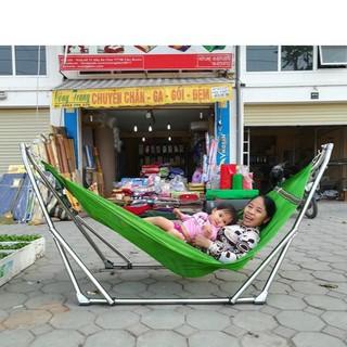 Võng xếp khung Inox Hòa Hậu kèm lưới võng cỡ đại - hòa hậu thumbnail