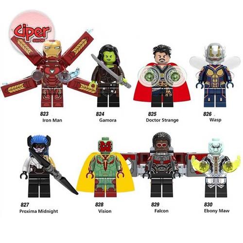 Bộ 8 nhân vật lắp ráp Avengers - X00187