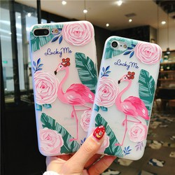 Ốp iphone 3D phong cách flamigo iphone 6 6s 7 8 plus x xr XS Max