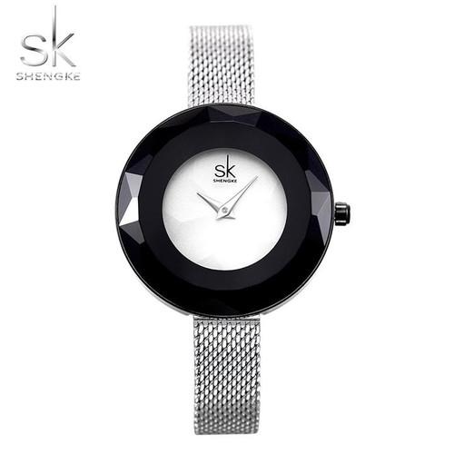 Đồng hồ nữ Chính Hãng Shengke Korea K0100L-02 Bạc - 4598221 , 16844803 , 15_16844803 , 2199000 , Dong-ho-nu-Chinh-Hang-Shengke-Korea-K0100L-02-Bac-15_16844803 , sendo.vn , Đồng hồ nữ Chính Hãng Shengke Korea K0100L-02 Bạc