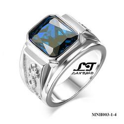 Nhẫn nam khắc rồng thiêng mặt đá xanh dương ver2 MNH003T-4