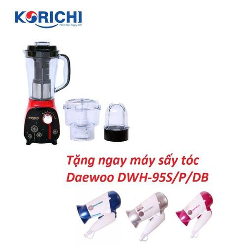 Máy xay sinh tố KORICHI KRC-6322 + Tặng máy sấy tóc Daewoo DWH-95S-P-DB - 6842802 , 16839824 , 15_16839824 , 1250000 , May-xay-sinh-to-KORICHI-KRC-6322-Tang-may-say-toc-Daewoo-DWH-95S-P-DB-15_16839824 , sendo.vn , Máy xay sinh tố KORICHI KRC-6322 + Tặng máy sấy tóc Daewoo DWH-95S-P-DB