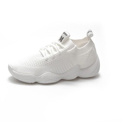 Giày thể thao cổ chun xinh xắn 2 màu trắng đen-cm
