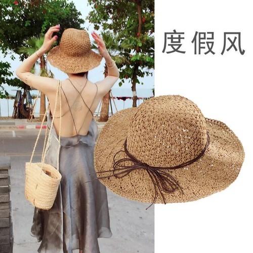 Nón cói đi biển style Korean