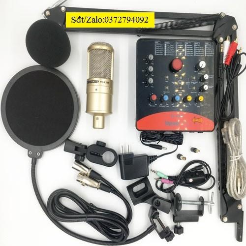 Combo micro Takstar PC K200 Sound card icon upod pro Tặng tai nghe