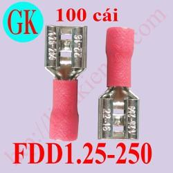 [100 cái] Đầu cốt điện - cốt cái FDD1,252-250 đỏ