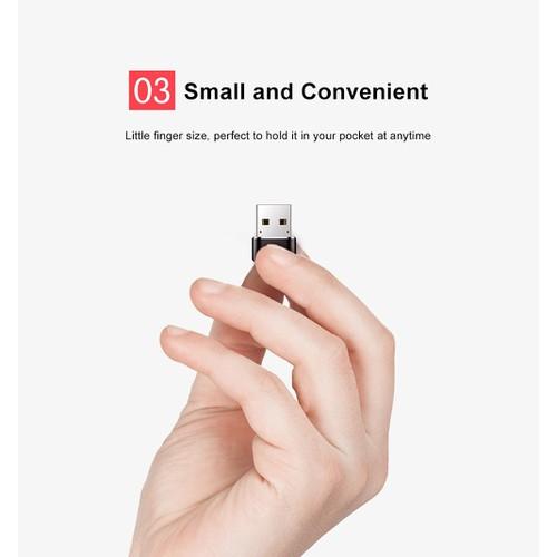 Đầu chuyển USB to Type-C chính hãng hiệu Baseus