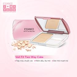 Phấn Nền Esance Siêu Mịn Lâu Trôi - Veil Fit Two Way Cake 11g