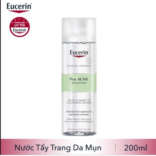 EUCERIN Nước Tẩy Trang Cho Da Dầu Mụn  ProACNE Solution Acne&Makeup Cleansing Water 200ml