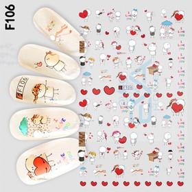 Miếng Dán Móng Tay 3D Nail Sticker Hoạt Hình F106 - 6900013060015