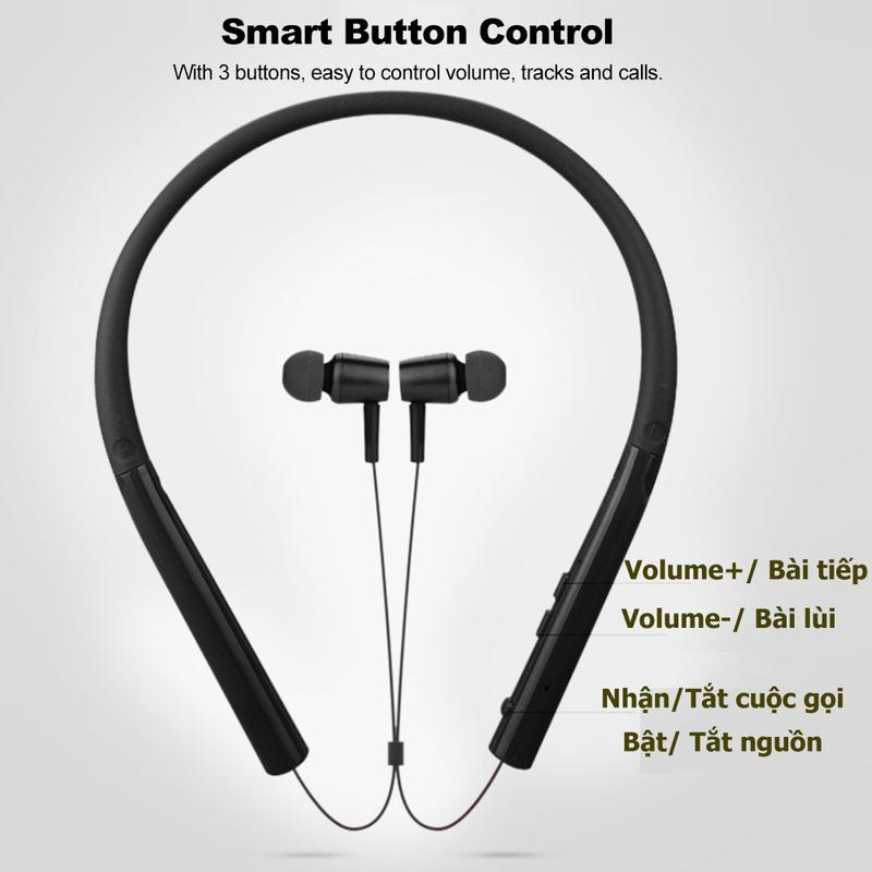 Tai nghe Bluetooth nhét tai chống nước 750A PKCB153 tai nghe thể thao 3