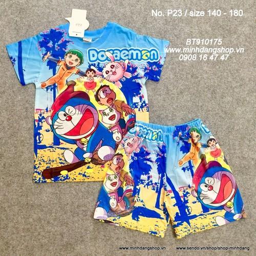 Bộ thun lạnh 3D Doraemon từ 18-30kg P23