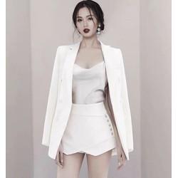 Bộ áo vest và sooc giả váy thanh lịch