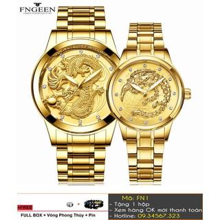 [Tặng Vòng Tặng Pin] Đồng hồ cặp FNGEEN cao cấp - giá 1 đôi - 7347 thumbnail