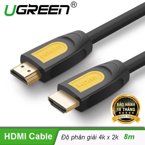 Dây cáp HDMI 1.4 thuần đồng, 19+1 Dài 8m dùng cho Tivi, máy tính, máy chiếu, màn hình...... UGREEN HD101 11182 - Hãng phân phối chính thức