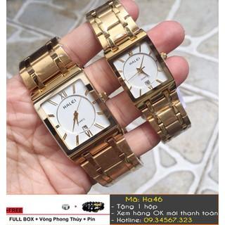 [Tặng Vòng Tặng Pin] Đồng hồ cặp Halei mặt vuông - giá 1 cặp - 7350 thumbnail