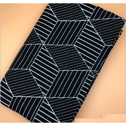 Vải bố, vải canvas lập thể đen khổ 1m x 1m