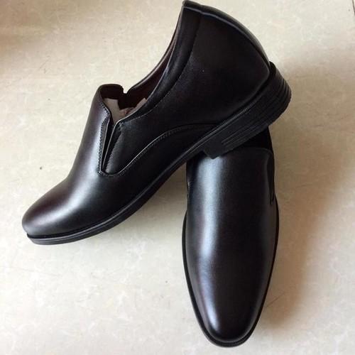 Giày tăng chiều cao đen da bò thật cao cấp TH -GT206