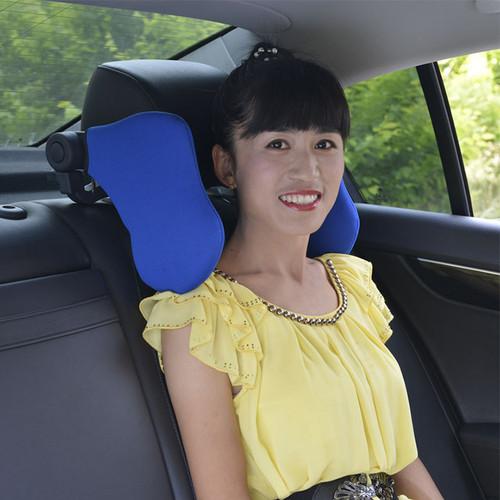 Gối tựa đầu ngủ trên xe ô tô VITI màu xanh