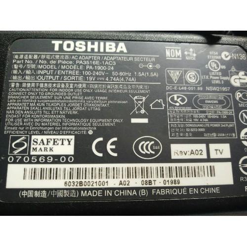 Sạc laptop TSHIBA