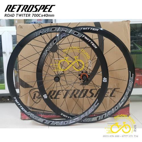 Bộ vành nhôm xe đạp ROAD RESTROSPEC TWITTER 700cx40mm