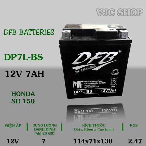 Bình ắc quy xe Honda SH150 hãng DFB Batteries dung lượng 12V 7AH - 6862524 , 16855122 , 15_16855122 , 369000 , Binh-ac-quy-xe-Honda-SH150-hang-DFB-Batteries-dung-luong-12V-7AH-15_16855122 , sendo.vn , Bình ắc quy xe Honda SH150 hãng DFB Batteries dung lượng 12V 7AH