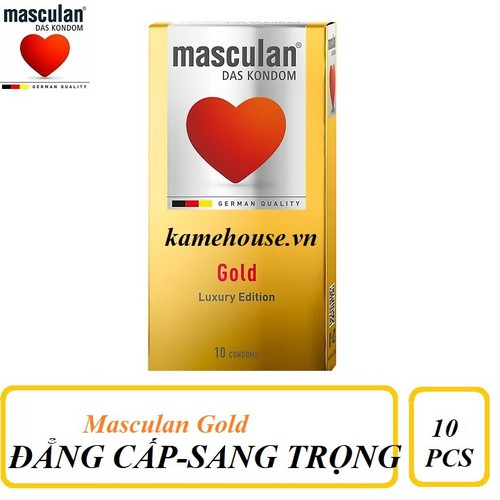 Bao Cao Su cao cấp Masculan Das Kondom Gold hộp 10 chiếc