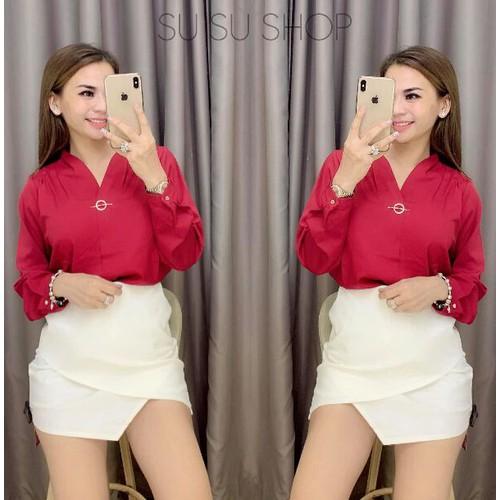 Áo voan nữ xinh đỏ đẹp - 6883295 , 16870385 , 15_16870385 , 75000 , Ao-voan-nu-xinh-do-dep-15_16870385 , sendo.vn , Áo voan nữ xinh đỏ đẹp