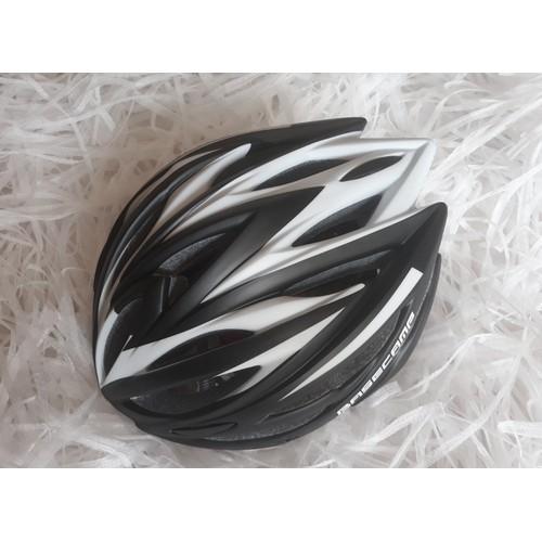 Nón xe đạp Basecamp đen sọc trắng