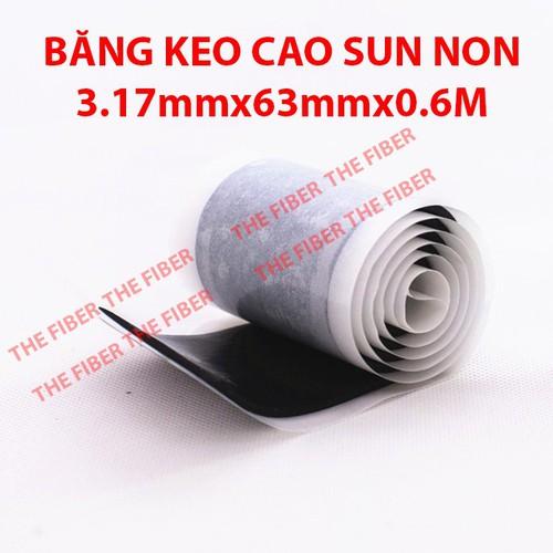 BĂNG KEO CAO SU NON 3.17mmx63,5mmx0.6M