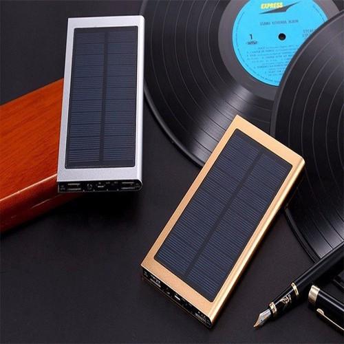 Pin sạc dự phòng, Pin dự phòng năng lượng mặt trời 20000 mAh Trắng bạc
