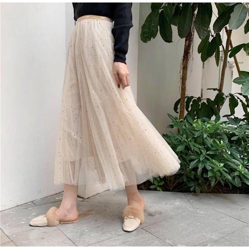 Chân váy kim tuyến