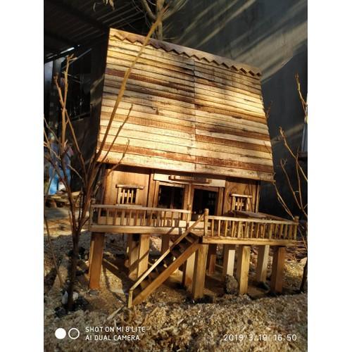 Nhà mô hình, nhà Sàn, nhà Gỗ mô hình, nhà DIY, nhà Búp bê, Quà lưu niệm, nhà Tây Nguyên, nhà đẹp, nhà gỗ handmade