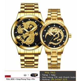 [Tặng Vòng Tặng Pin] Đồng hồ đôi FNGEEN rồng phượng thời trang - giá 1 đôi - 512 thumbnail