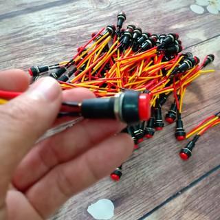 Công tắc chế xe 2 cực đầu bấm ON-OFF màu đỏ - A274 - A274 thumbnail