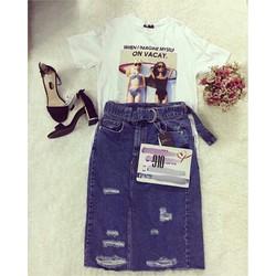 Chân váy jeans nữ đẹp