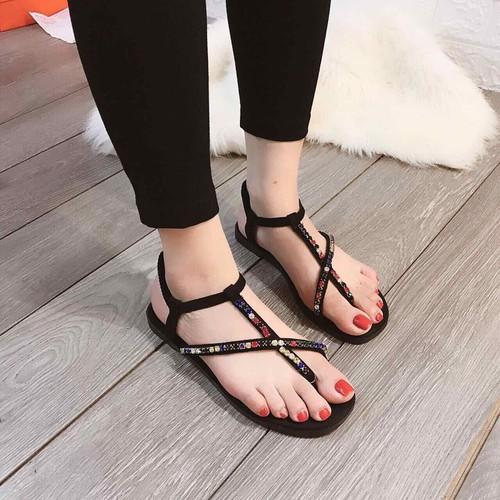 Giày xanh đan đính đá nhiều màu siêu xinh-pll9809