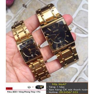 [Tặng Vòng Tặng Pin] Đồng hồ đôi Halei vàng - giá 1 đôi - 515 thumbnail
