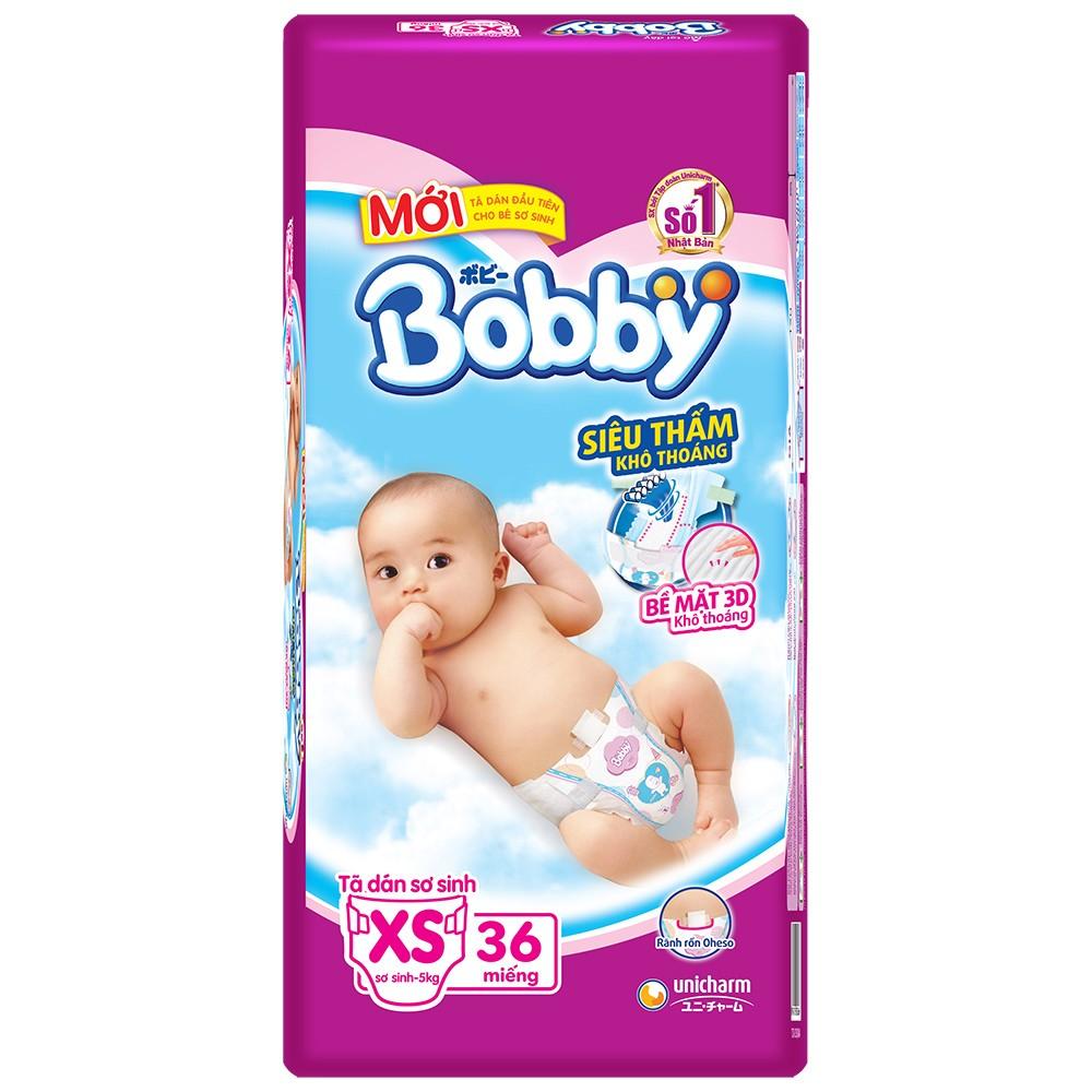 Tã dán Bobby size XS 36 miếng