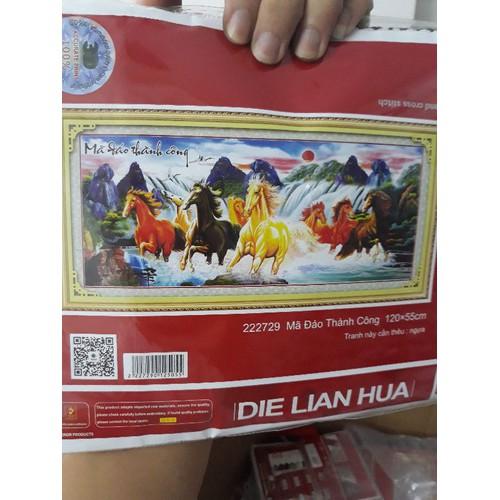 Tranh thêu chữ thập MÃ ĐÁO THÀNH CÔNG 120x55cm - 6903715 , 16883767 , 15_16883767 , 270000 , Tranh-theu-chu-thap-MA-DAO-THANH-CONG-120x55cm-15_16883767 , sendo.vn , Tranh thêu chữ thập MÃ ĐÁO THÀNH CÔNG 120x55cm