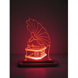 Đèn Led 3D|Mô Hình Máy Nghe Nhạc Cổ Điển