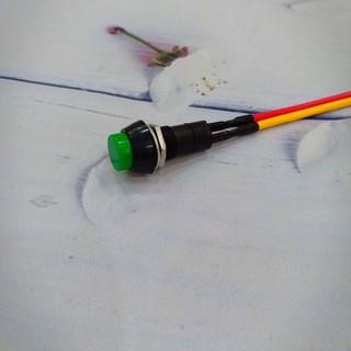 Công tắc chế xe 2 cực tròn chớp nháy màu xanh - A275 - A275 thumbnail