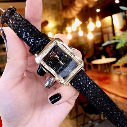 Đồng hồ nữ thời trang mặt vuông ánh JB36