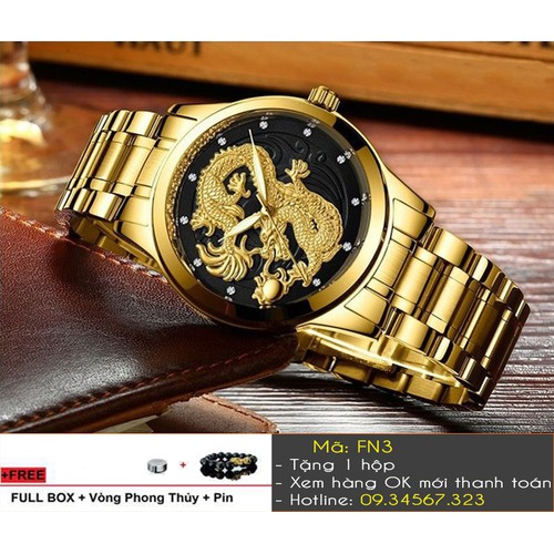 [Tặng Vòng Tặng Pin] Đồng hồ nam sang trọng thương hiệu FNGEEN