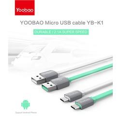 Cáp sạc yoobao K1 Micro USB - Chính hãng