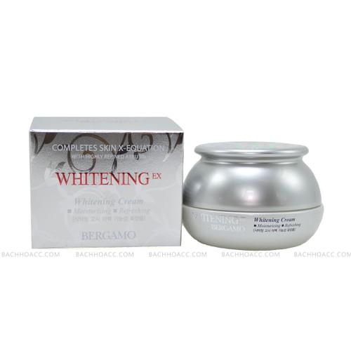 Kem dưỡng trắng da và chống nhăn BERGAMO WHITENING EX WRINKLE CARE CREAM 50g  giúp giảm vết thâm nám và chống lão hóa da