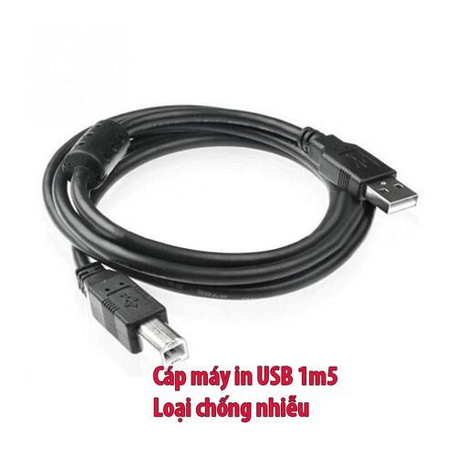 Cáp máy in USB 1m5  chống nhiễu - 4778337 , 16898646 , 15_16898646 , 20000 , Cap-may-in-USB-1m5-chong-nhieu-15_16898646 , sendo.vn , Cáp máy in USB 1m5  chống nhiễu