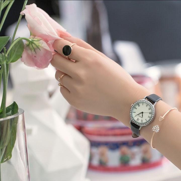 Đồng hồ nữ thời trang phong cách hàn quốc 1
